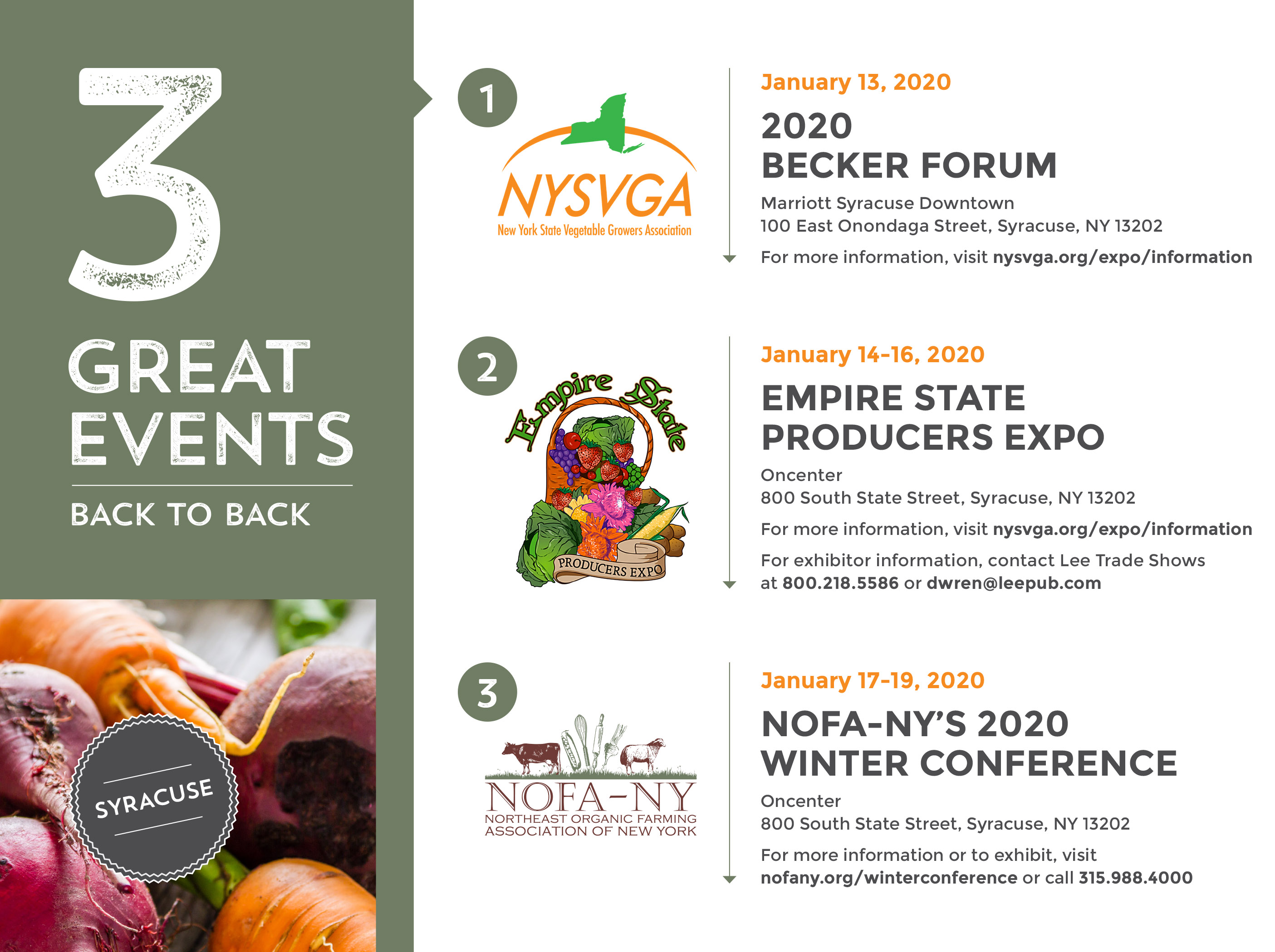 January 19th 2020 Events New York.Expo Information Empire State Growers Expo New York State